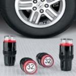 Tapones para ruedas que controlan la presión de los neumáticos