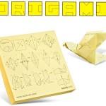 Notas para convertir en origami