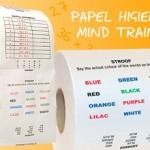 Papel higiénico que entrena la mente
