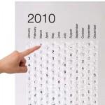 Calendario de burbujas para el año que viene