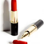 Bolígrafo en una barra de labios