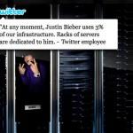 Justin Bieber tiene servidores dedicados para su Twitter
