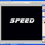 Texto con velocidad Photoshop