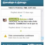 Como seguir una conversación en Twiter
