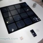 Panasonic prepara un prototipo de mesa para recargar gadgets con energía solar