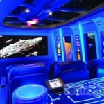 Un auténtico home theater de Star Wars, muy cool