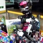 Un 'robot' hecho de teléfonos móviles