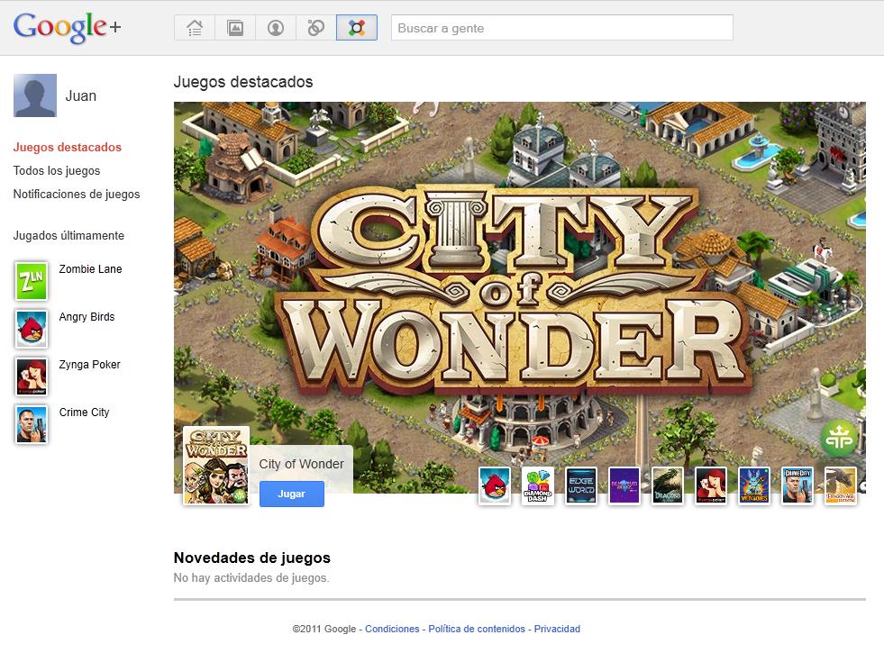 juegos google plus