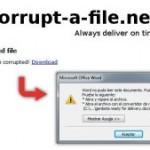 Corrupt a file, una página para ganar tiempo