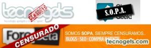Censurado Ley SOPA