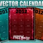 Calendarios 2012 en vectores para descargar