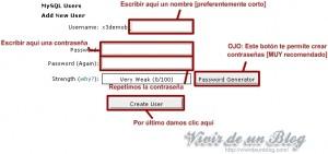 Creacion de usuario MySQL