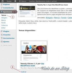 Instalar un theme en WordPress