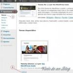 Instalando un theme en WordPress