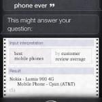 Para Siri, el Lumia 900 es el mejor móvil