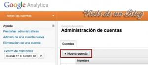 Nueva cuenta administrativa en Google Analytics