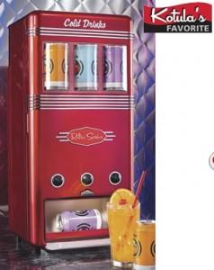 Máquina de bebidas retro