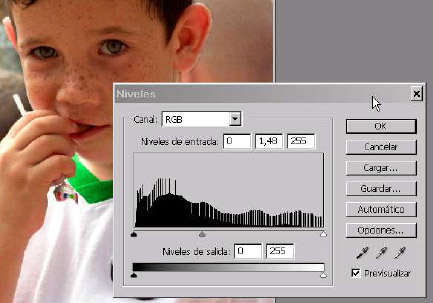 Tutorial Photoshop: Corrección de primeros Planos Oscuros en las Fotografias niveles