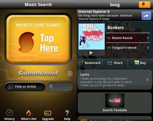 Encuentra tus canciones con SoundHound