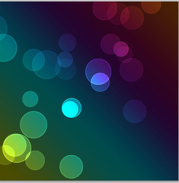 Efecto Buken circulos luminosos 11