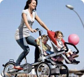 Bicicleta y carricoche