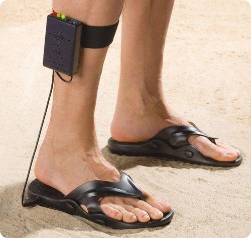 sandalias detector metales