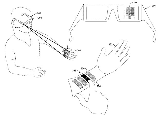 Gafas de Google que proyectan teclados sobre nuestra mano