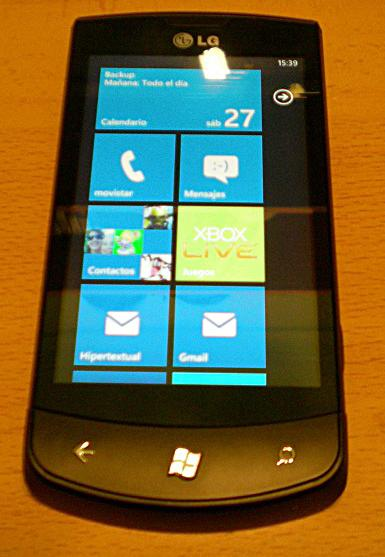 lg E900 optimus 7 con windows phone 7