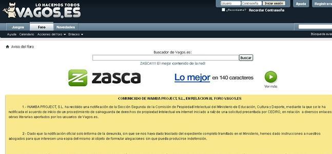 Cierra voluntariamente el portal Vagos.es