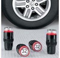 tapones de ruedas con medidor de presion