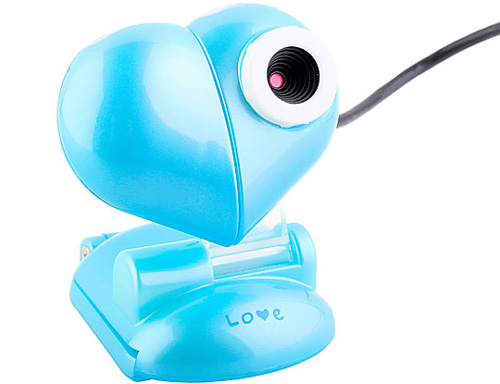 Webcam USB Heart Clip