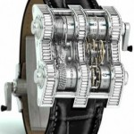 Reloj vertical Cabestan Winch Tourbillion