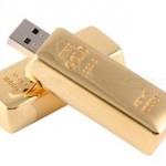 Lingote de oro para almacenar tus datos