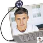 Webcam con su propia luz