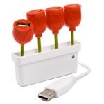 Tulipán con 4 puertos USB para celebrar la primavera