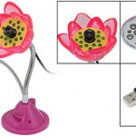 Webcam con forma de flor y leds